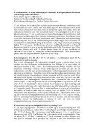 Produktion af krydsningskalve i økologiske ... - LandbrugsInfo