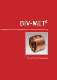 wrapped composite sliding bearing, steel/bronze, lubrication ...