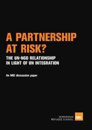 the un-ngo relationship in light of un integration - Norwegian ...