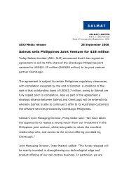Salmat sells Philippines Joint Venture for $28 million