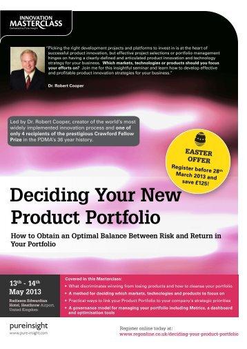 Deciding Your New Product Portfolio - Pure Insight