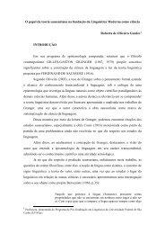 O papel da teoria saussuriana na fundação da Linguística Moderna ...
