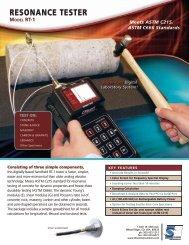 RESONANCE TESTER - Olson Instruments, Inc.