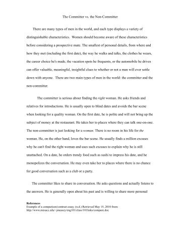 how to write a college compare and contrast essay