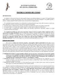 INSTRUCCIONES DE CENSO - SEO/BirdLife