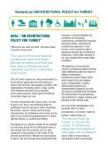 Towards an ARCHITECTURAL POLICY for TURKEY - Page 4
