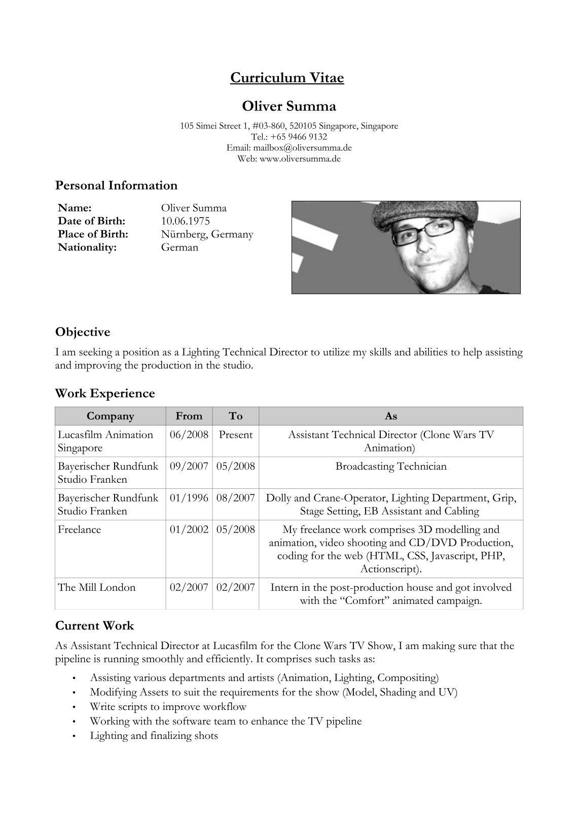 Increíble Ejemplos De Una Carta De Presentación Para Un Currículum ...