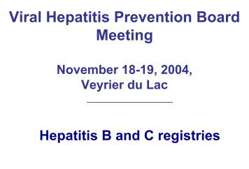 Diapositive 1 - Viral Hepatitis Prevention Board