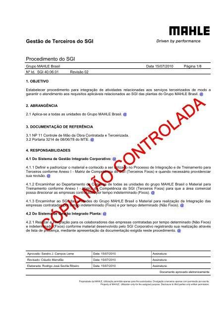 Gestão de Terceiros - mahle.com