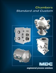 Standard Chambers Brochure - MDC Vacuum Products Corporation