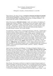 Orientalia Bohemica 2006 - Archeologický ústav AV ČR