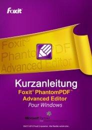 Informationen zu Foxit® PhantomPDF™ Advanced Editor