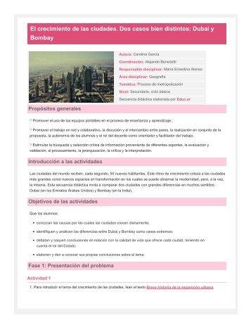 El crecimiento de las ciudades. Dos casos bien ... - TramixSakai ULP