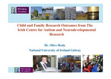 Child and Family Research Outcomes from The Irish Centre for ...