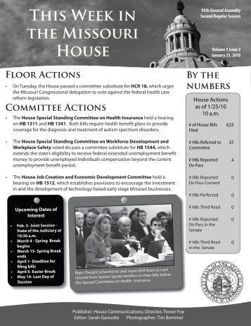 January 25, 2010 - Missouri House of Representatives