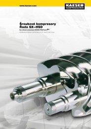 Šroubové kompresory Řada SX–HSD - Kaeser Kompressoren sro