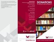 Donations Brochure - Kwantlen Polytechnic University