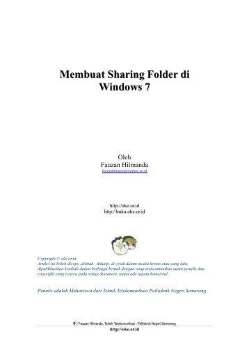 Membuat Sharing Folder di Windows 7 - Open Knowledge and ...