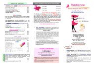 latest prices - RADIANCE BEAUTY THERAPY NAILS and HAIR ...