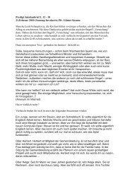 Predigt Jakobusbrief 1, 12 - 18 21.Februar 2010 (Sonntag Invokavit ...