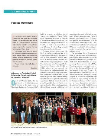 Focused Workshops - Department of Mathematics and Statistics ...