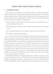 Kalman Filter Finite Element Method