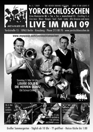 LIVE IM MAI 09 - Yorckschlösschen