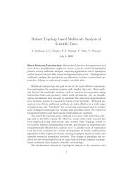 Robust Topology-based Multiscale Analysis of Scientific Data