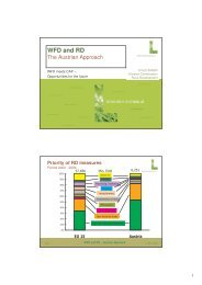 WFD and RD - Ecologic Events
