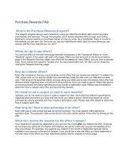 Purchase Rewards FAQ - MainSource Bank