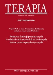 Poprawa funkcji poznawczych w schizofrenii: sertindol ... - Lundbeck