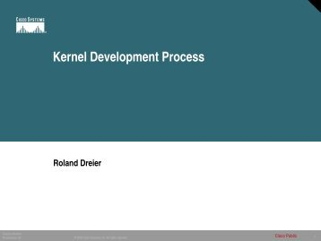 Working with the Kernel Community