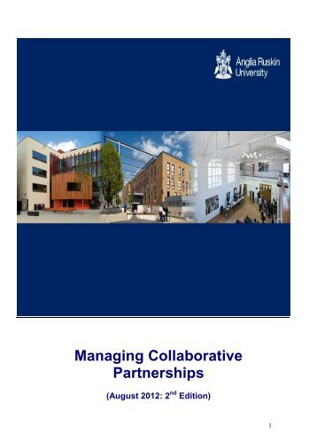 Guide to Managing Collaborative Partnerships - Anglia Ruskin ...