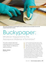 Buckypaper: - Society of Manufacturing Engineers