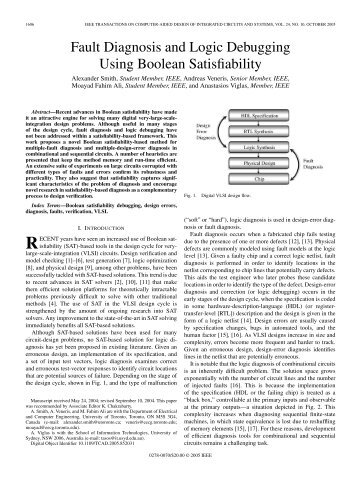 Fault Diagnosis and Logic Debugging Using Boolean Satisfiability