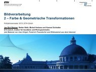 Farbe & Geometrische Transformationen - IGP - ETH Zürich