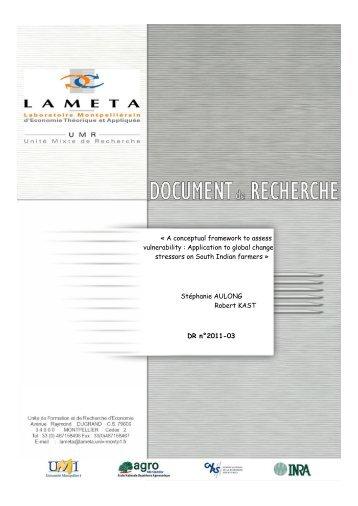 Â« A conceptual framework to assess vulnerability ... - Lameta