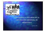 experiencia a dos años de la vacunación universal de hepatitis a