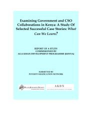 Examining Government and CSO Collaborations in Kenya