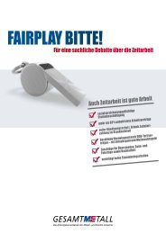 FairPlay bitte! - Gesamtmetall