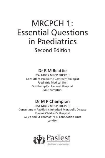 MRCS Part A Essential Revision Notes Book 1 PDF