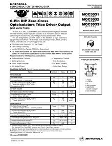 MOC3032 Zero-Cross Optoisolators Triac Driver