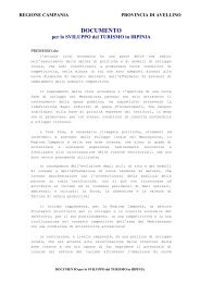 Documento Sviluppo Turistico Irpinia - Borghi srl