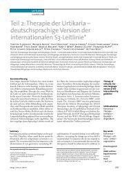 Teil 2: Therapie der Urtikaria – deutschsprachige Version der ... - dgaki