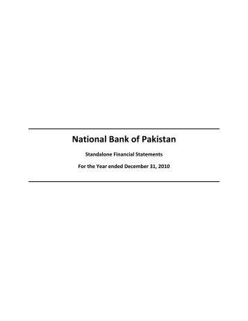 National Bank of Pakistan - Lahore Stock Exchange