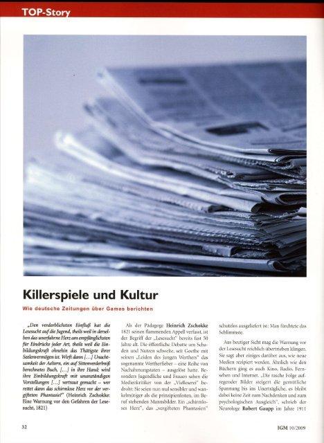 International Games Magazine (pdf – 2,6 MB) - Achim Fehrenbach