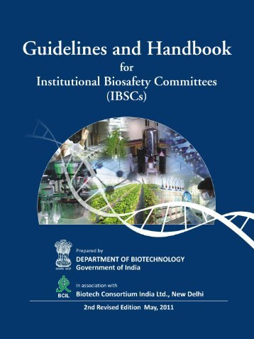 Guidelines and Handbook for IBSCs - Department of Biotechnology