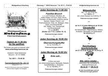 Jeden Sonntag ab 18.00 Uhr Überraschungsbuffet - Waldgasthaus ...