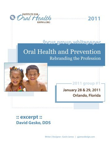Partial Whitepaper (Gesko only) - Institute for Oral Health