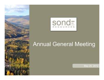 Sonde AGM May 2012.pptx - Sonde Resources